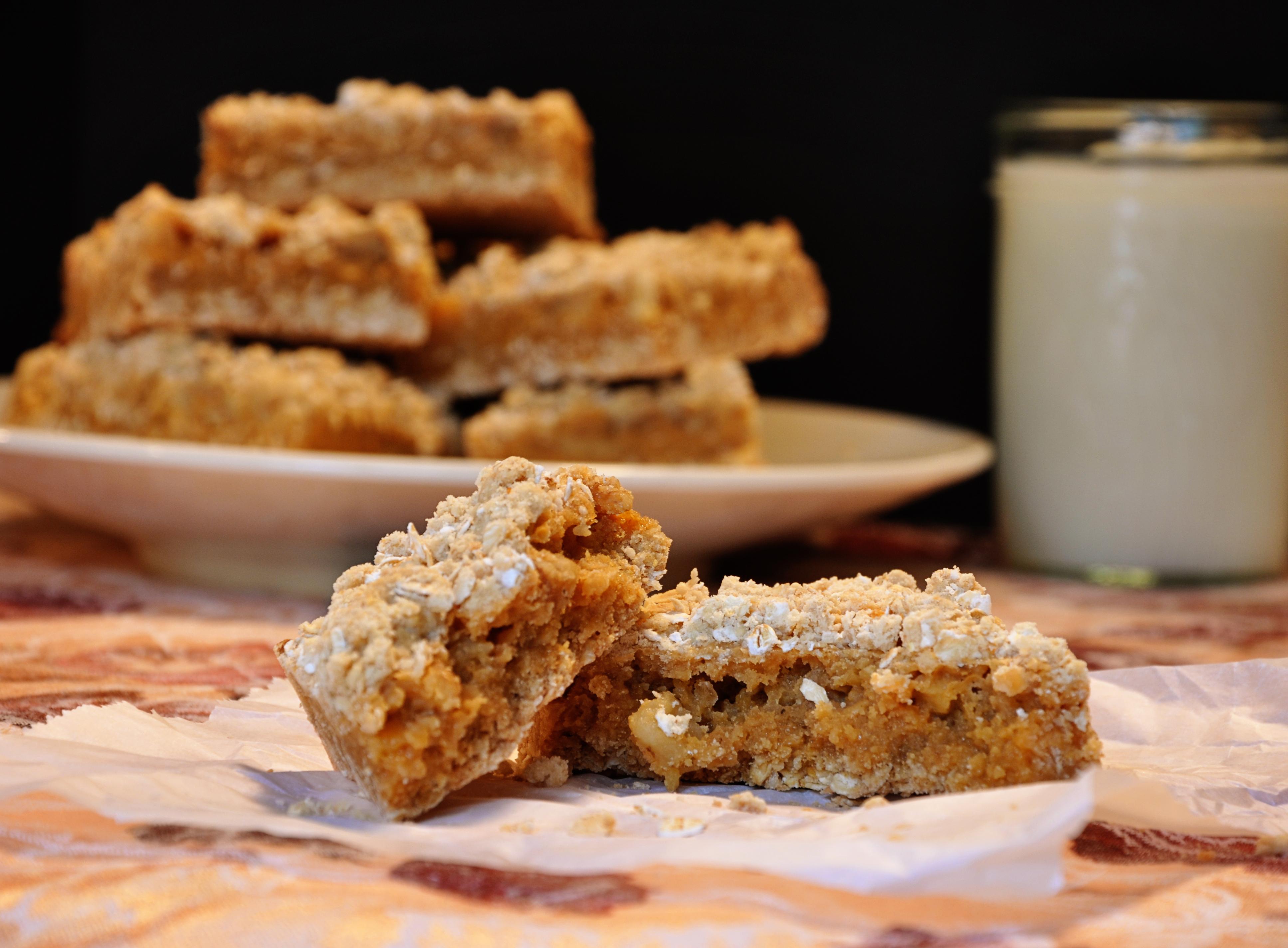 Lightenened Up Oatmeal Butterscotch Bars - ClutterCafe