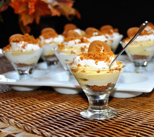 Pumpkin Biscoff Cheesecake Parfaits
