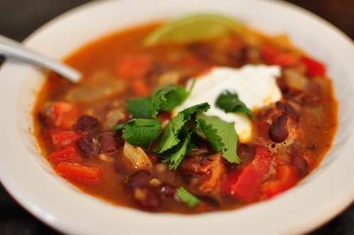 Black Bean Soup with Chorizo and Lime