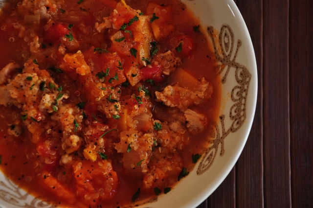 Chicken and Butternut Stew with Quinoa